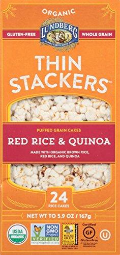 (Lundberg Family Farms Organic Thin Stackers Grain Cakes, Red Rice and Quinoa, 5.9 oz)