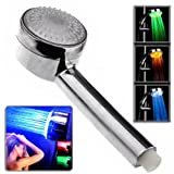 Lightinthebox 8 Inch 7 Colors Changing LED Contemporary Shower Faucet Head of 8 Inch (Temperature control Version)