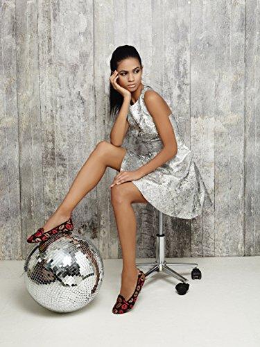 Mujer Beso Zapatos Ballerinas Farringdon Cocorose Plegables Cuero 6UzwqxfC