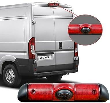 Cámara de marcha atrás específica para furgonetas Fiat Ducato, Peugeot Boxer, Citroën Jumper, con luces led: Amazon.es: Electrónica