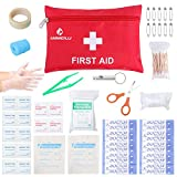 First Aid Kit Medical Survival Bag, Waterproof Compact Response Trauma Bag, Mini Emergency Bag for Car, Home, Picnic, Camping ,Travelling and Other Outdoor Activities, ANMEILU.