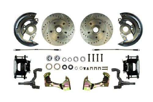 Right Stuff Detailing AFXWK01CS Disc Brake Conversion Kit with Black Drilled/Slotted PC and Stainless Steel (Malibu Disc Brake Conversion)