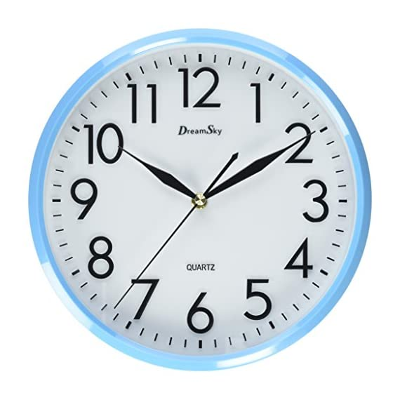 DreamSky 10 inches Silent Non-Ticking Quartz Wall Clock Decorative Indoor Kitchen Clock, 3D Numbers Display,Battery Operated Wall Clocks - 10 inch basic dial quartz wall clock ,non ticking, quiet sweep second hand ensure a good sleeping and work environment. perfect for home, office or classroom - any place accurate timekeeping is needed Large and clear 3D illuminate numeric indicator at every hour and minute tracker make it easy to see from any corner of your room . Unlike other using cardboard as clock background that easy damaged in moisture and wet season, this clock back base are made of solid plastic , therefore remain well function and dry in any weather condition - wall-clocks, living-room-decor, living-room - 51vw2FTt52L. SS570  -