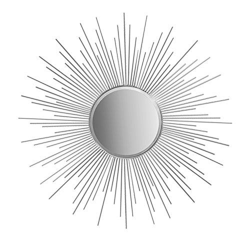 "36"" Decorative Wall Hanging Mirror in Sunburst Shape, Brushe"