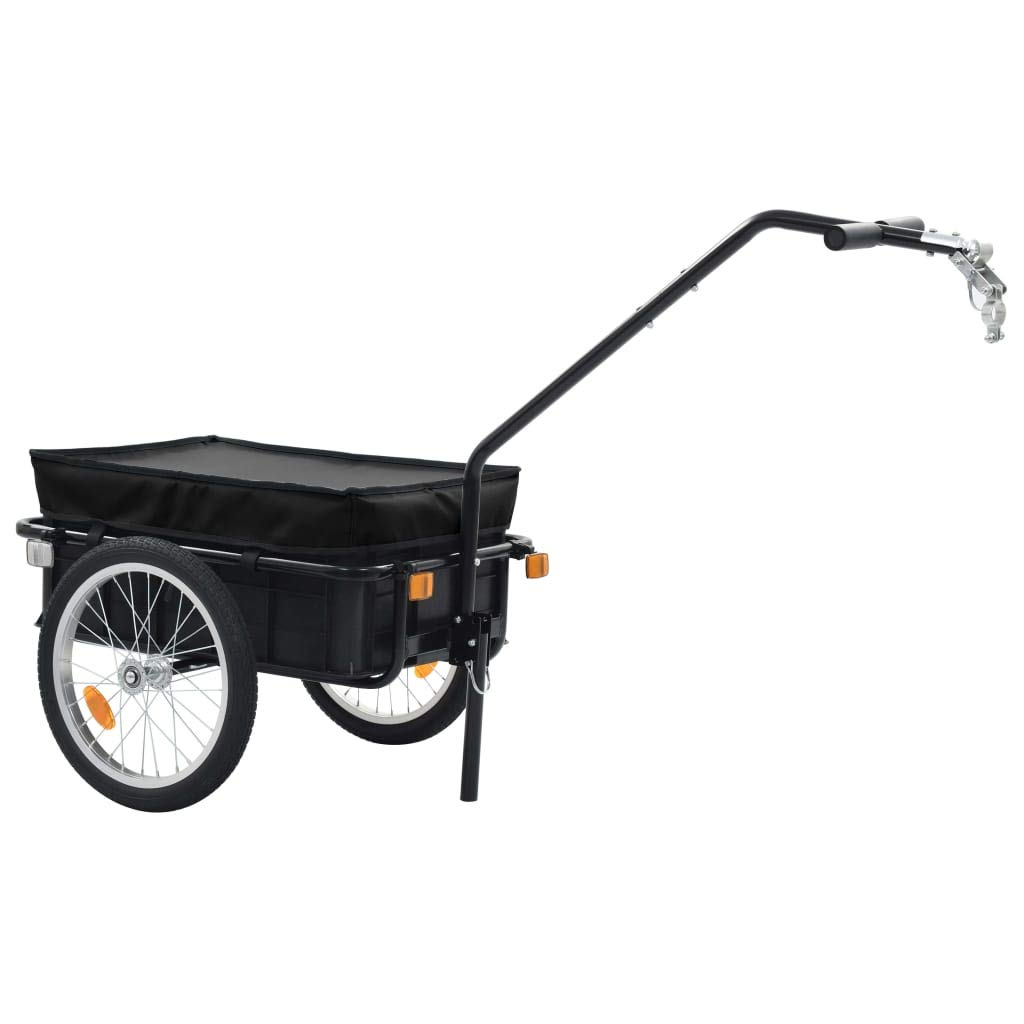 remorque de Transport Velo Festnight- Remorque de Bicyclette maximale : 50 kg 155 x 61 x 83 cm en Acier Noir Remorque de v/élo