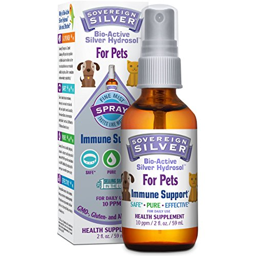 Sovereign Silver Bio-Active Silver Hydrosol For Pets for Immune Support - 10 ppm, 2oz (59mL) - Fine Mist Spray
