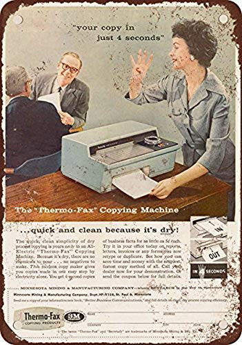 Ucland 1958 Thermo-Fax Copying Machine Vintage Look Reproduction Metal Tin Sign 12X16 Inches