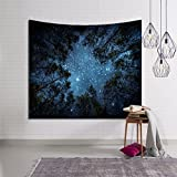 SUNSHINE EVERYDAY Printed Sky Forest Tapestry Bedroom Livingroon Dorm Tapestry Wall Hanging, Beach towel Throw, Dorm Decoration, Tablecloth (60''×51'', Multi-9)