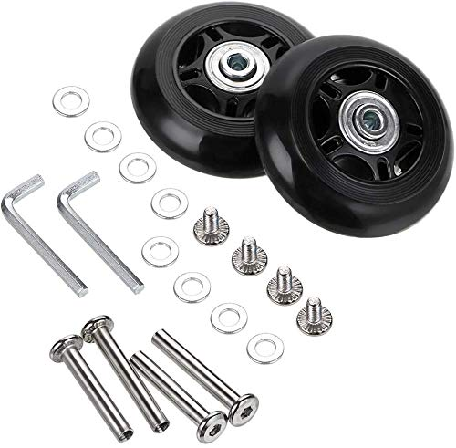 Set of 2 Wheels F-ber Suitcase Luggage Wheels Replacement Kit OD40//45//50//54//60//64mm Wheels ABEC 608zz Skate Inline Outdoor Skate Replacement Wheels Multiple Sizes