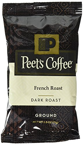 Peet's Coffee, French Roast, Ground Coffee, Dark Roast, 2.5 oz. Fractional Packs (Pack of 18), Bold, Intense, & Complex Dark Roast Blend of Latin American Coffees, with a Smoky Flavor & Pleasant Bite