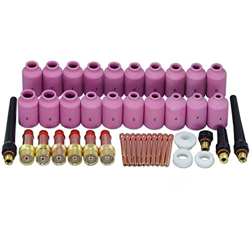 TIG Gas Lens Collets Bodies Alumina Nozzle Kit Fit QQ300 PTA DB SR CK WP 17 18 26 TIG Welding Torch - Kit Sgl
