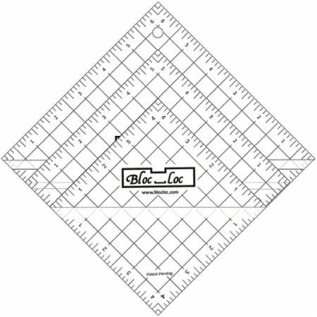 Bloc Loc~Half Square Triangle Ruler Set #2-2.5''4.5'',6.5'', Acrylic Ruler by Bloc Loc