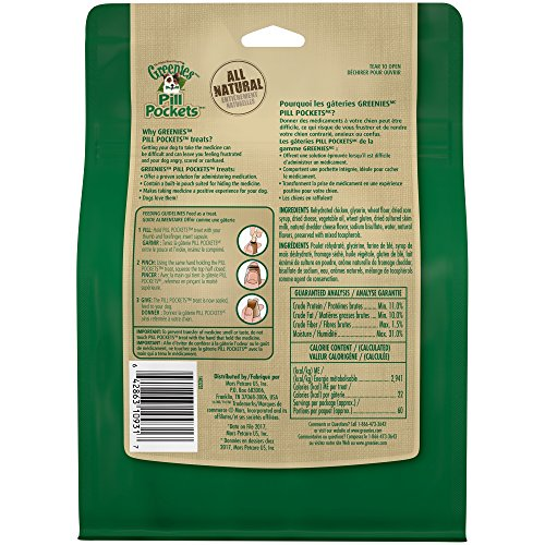 Large Product Image of Greenies Pill Pockets Capsule Size Dog Treats Cheese Flavor, 15.8 Oz. Pack (60 Treats)