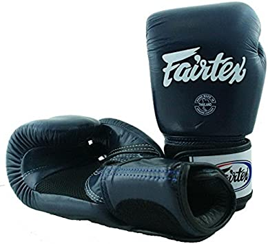 FAIRTEX MUAY THAI KICK BOXING GLOVE BLACK COLOR BREATHABLE BGV1 MMA SPARRING