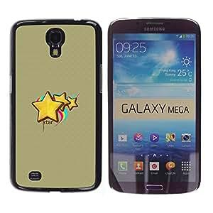 Paccase / SLIM PC / Aliminium Casa Carcasa Funda Case Cover - Cute Star - Samsung Galaxy Mega 6.3 I9200 SGH-i527