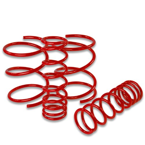 Nissan 240SX Suspension Lowering Springs (Red) - Silvia S14 (240sx Suspension)