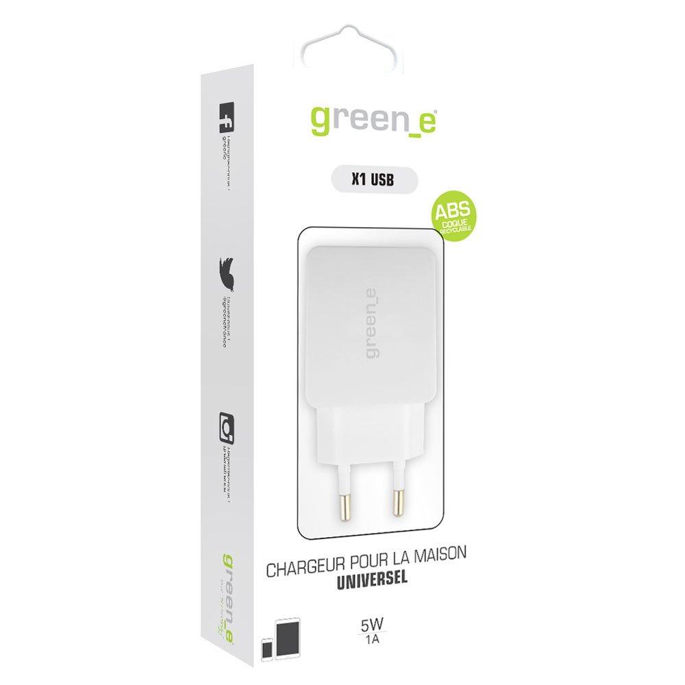 iPod pour smartphones iPhone SE HTC iPad tablettes X1 port USB 2,4A Sony et autres iPhone 5 iPhone 7 intelligent et tr/ès rapide Samsung iPhone 8 Nokia green/_e Chargeur pour la maison iPhone 6 noir /écologique et recyclable