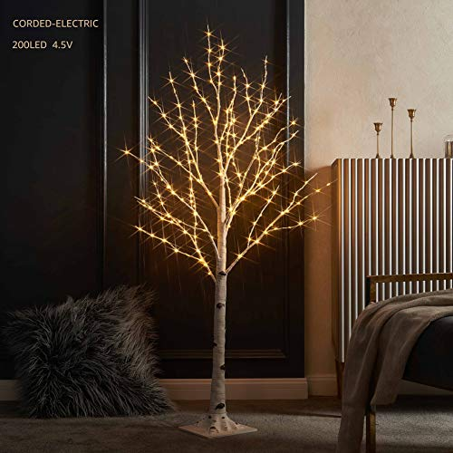 LITBLOOM Lighted Birch Twig Tree with Fairy Lights 4FT 200LED Warm White for Indoor Outdoor Home Decoration (Twigs Lights And Fairy)