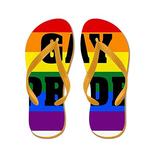 Cafepress Gay Pride - Flip Flops, Roliga Rem Sandaler, Strand Sandaler Apelsin
