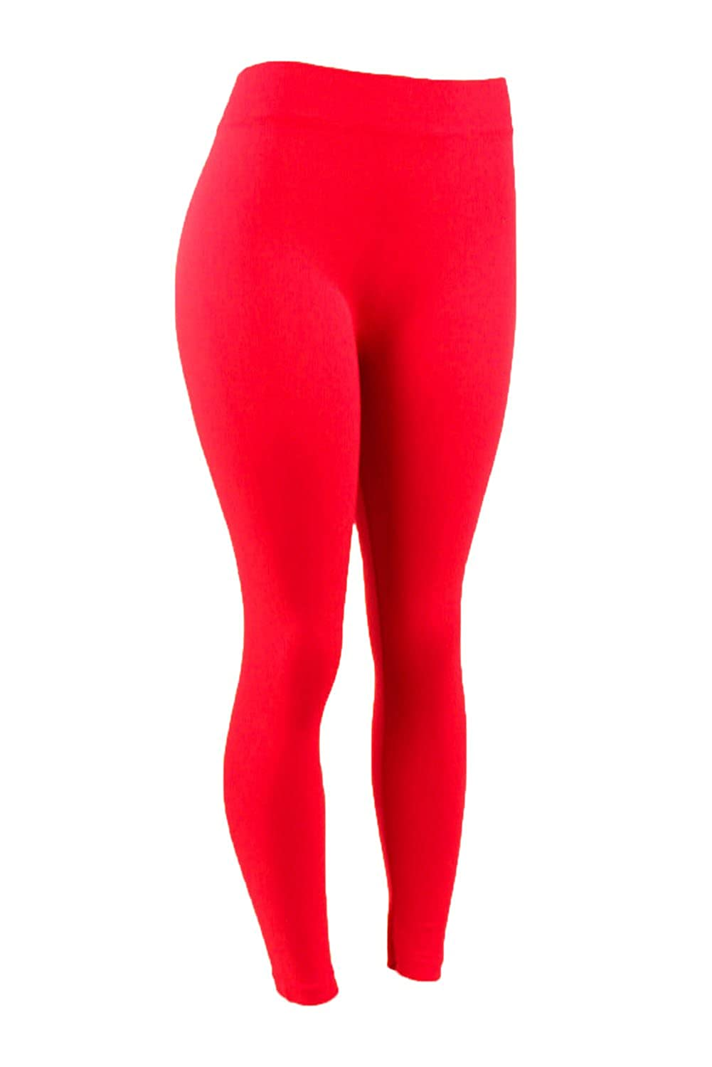 42dd7b60f7567 Jiuyu Women's Plus Size Basic Solid Color Leggings-One Size-Black at Amazon  Women's Clothing store: