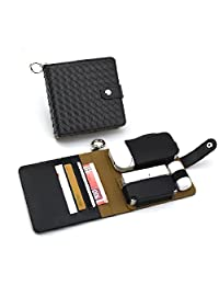 Weaved Style Leather IQOS 2.4/2.4 Plus Electronic Cigarette Skin Case Bag Holder