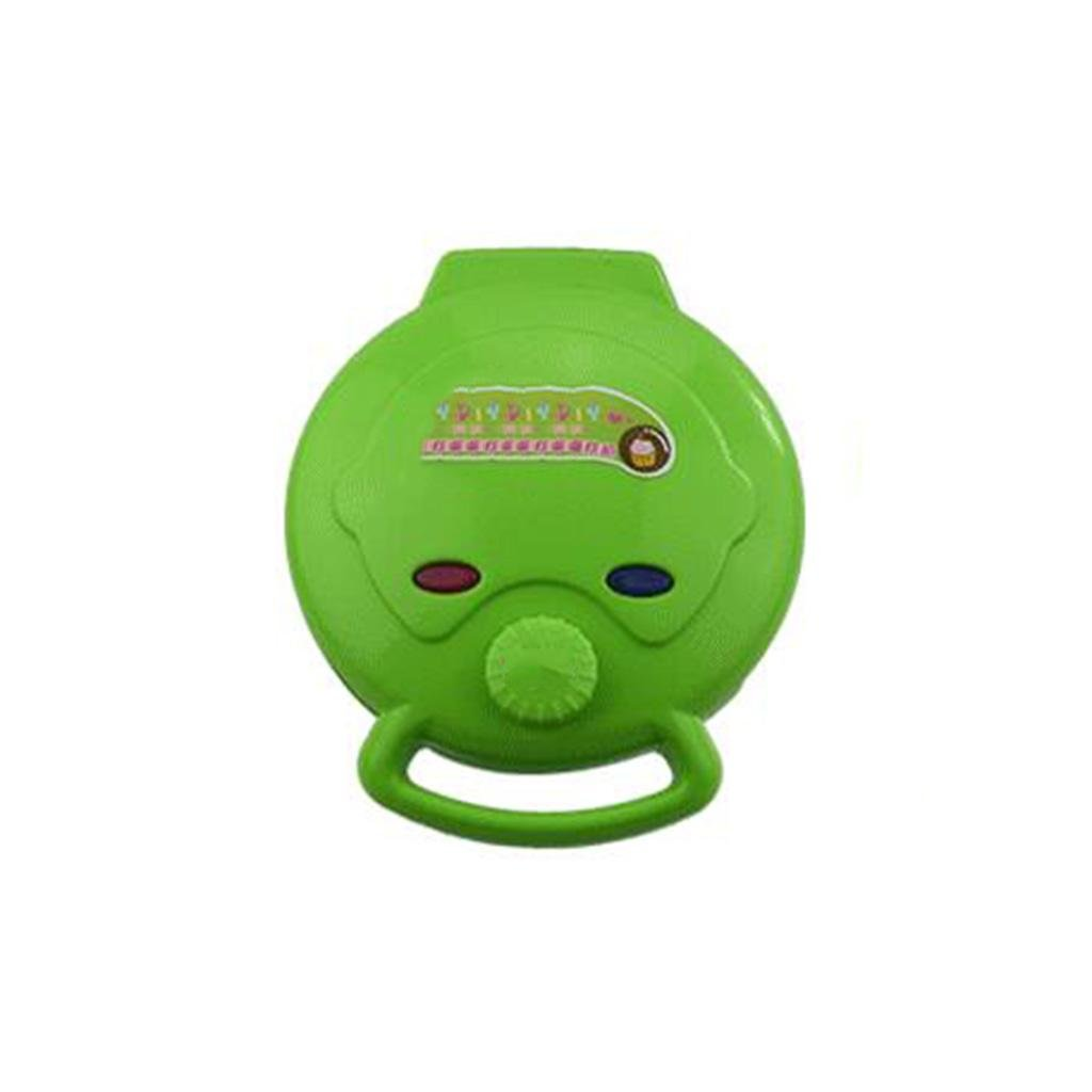 Household Cake Machine Multifunction Automatic Double-Sided Grilled Machine Mini Electric Baking Pan , green