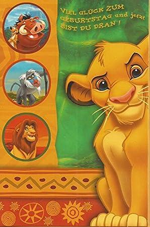 Carte Danniversaire Carte De Vœux De Disney Le Roi Lion Simba