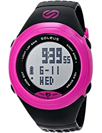 Women's SG007-011 GPS SOLE Pink Stainless Steel Watch with Black Polyurethane Band