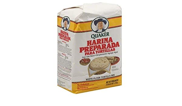 Amazon.com : Quaker Harina Preparada Para Tortillas White Flour Tortilla Mix, 64 oz, (Pack of 8) : Grocery & Gourmet Food