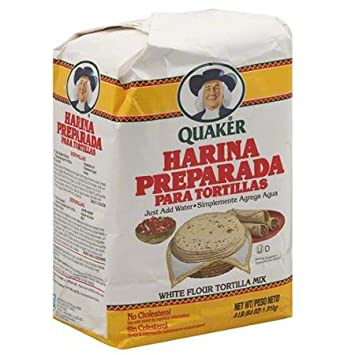 Quaker Harina Preparada Para Tortillas White Flour Tortilla Mix, 64 oz, (Pack of