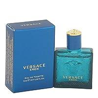Versace Eros by Versace Mini EDT para hombre .17 oz - 100% auténtico