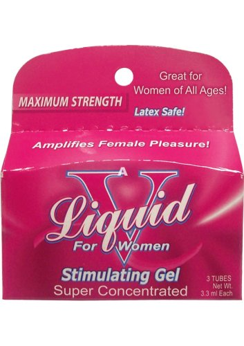 Body Action Liquid V For Women Stimulating Product, 3 pack, 3.3 mL each,Tubes