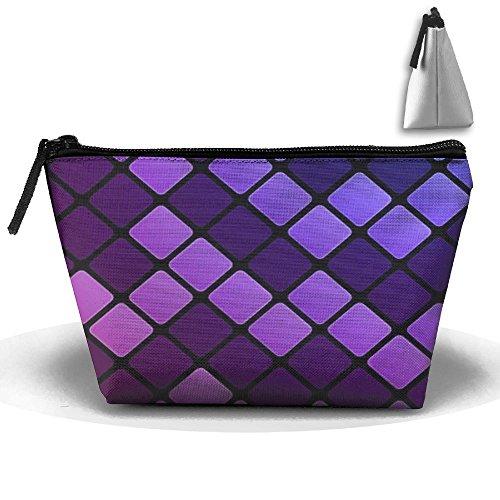 MASDUIH Yellow and Gray Lines Hand Bag Portable Storage Bag Clutch Handbag ()
