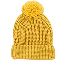 Jiuhong Kids Toddler Pompom Beanie Hat Baby Cable Knit Winter Hats Candy-Colored Caps for Girls and Boys