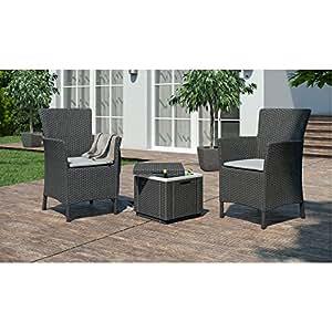 LD Muebles de Jardín Asiento Grupo Balcón Muebles Dining Chair imitación de ratán Asiento Taburete