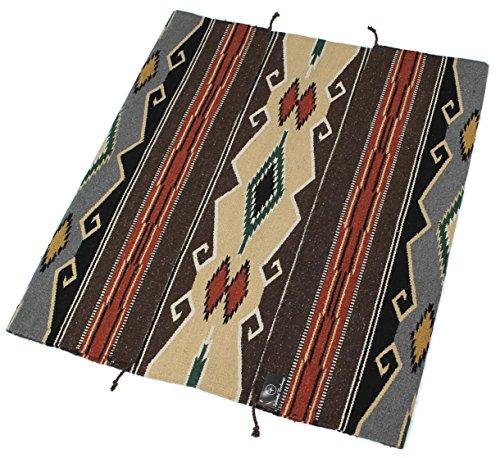 Splendid Exchange Hand Woven Acrylic Southwest Area Rug, 4 Feet by 6 Feet, Western Tan and Grey