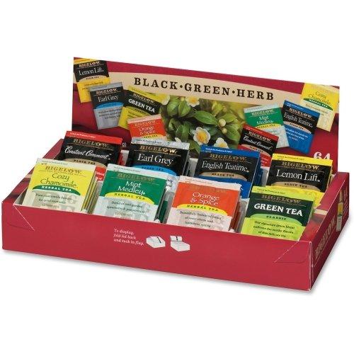 Bigelow Tea Fine Tea and Herb Tea Gift - Black Tea, Green Tea - Assorted - 64 / (Bigelow Tea Box)