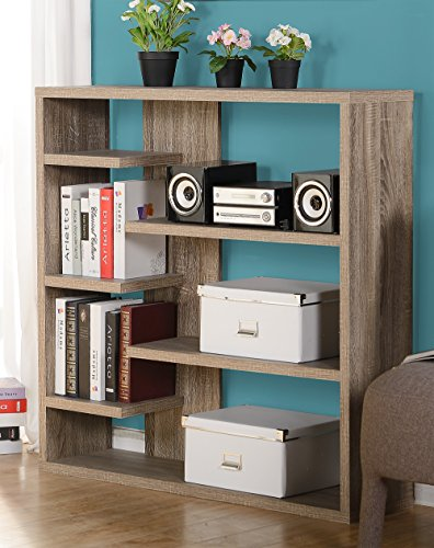 Homestar 6-Shelf Storage Bookcase in Reclaimed Wood by Home Star (Image #8)