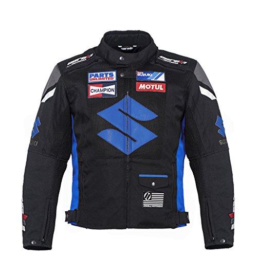 Chaqueta textil profesional Moto Azul Team Racing M (EU 50): Amazon.es: Coche y moto