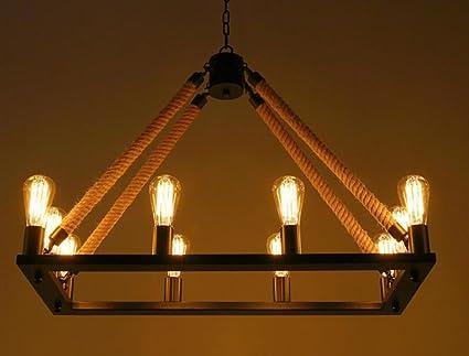 Cdbl-Luces de Techo Lámpara de Techo de cáñamo de Metal de ...