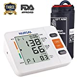 NURSAL Upper Arm Digital Blood Pressure Monitor With WHO Indicator and Large LCD Screen for 2 Users(2*90 storage), FDA Certified Automatic Electronic Blood Pressure Monitor (Bracelet 22 cm¨C42 cm)
