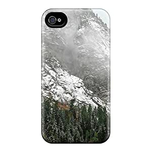 Top Quality Rugged Mist On Snowy Mountain For Case Iphone 5/5S Cover