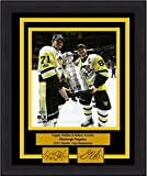"""Pittsburgh Evgeni Malkin/Sidney Crosby 2017 Cup 8"""" x 10"""" Framed and Matted Hockey Photo with Engraved Signatures"""