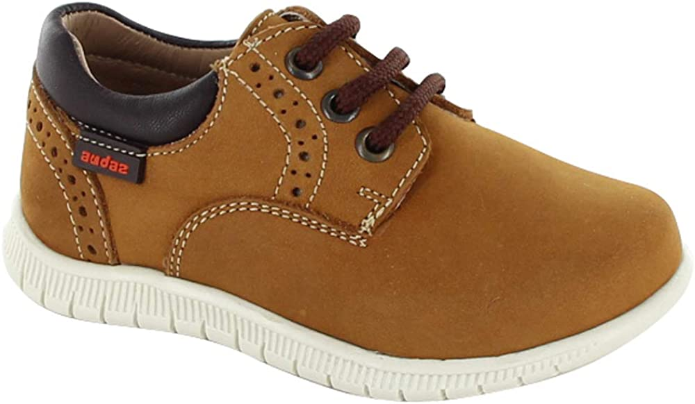 Boys Light Brown Oxford Shoes Toddler//Little Kid