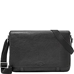 Fossil Aiden Messenger Bag - Black