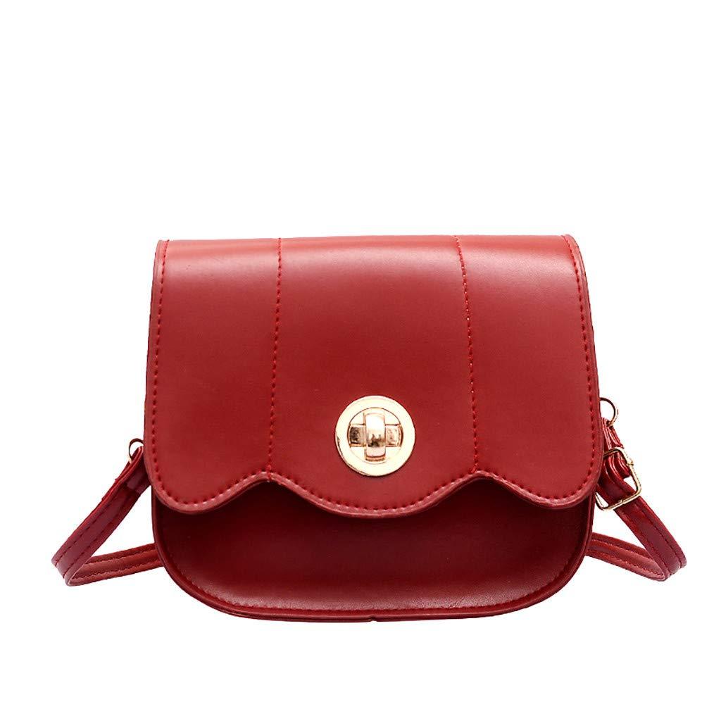 Makeupstory Handbags for Women,Backpack Purse Black,Women Lock Buckle Wild Cute Messenger Bag Shoulder Bag Small Square Bag by Makeupstory (Image #1)