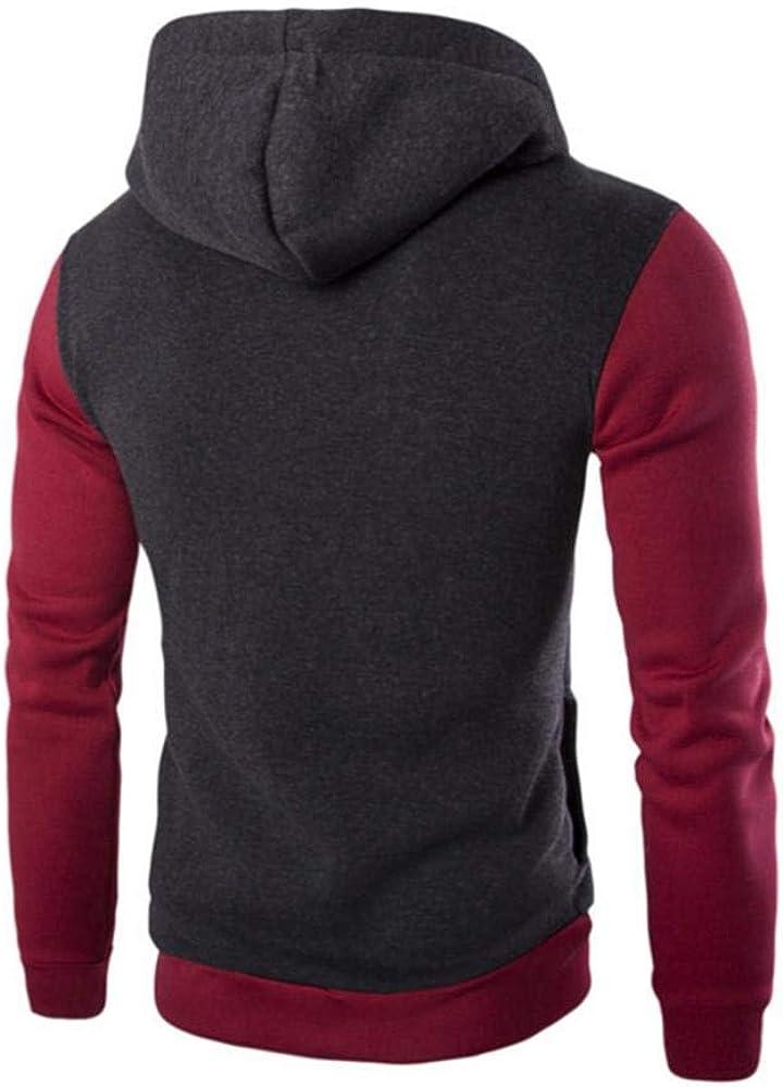 Meaeo Fashion Hoodie Oblique Zipper Patchwork Hoodies Men Fashion Tracksuit Male Sweatshirt Hoody Dropshipping Top Coat Dark Grey