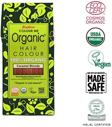 Radico Colour Me Organic 100% Natural Hair Dye (Caramel ...