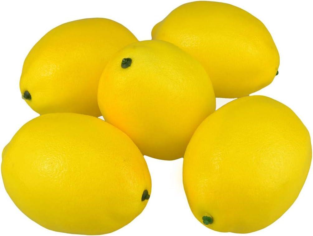 Erisl Lot de 20 Citrons artificiels r/éalistes