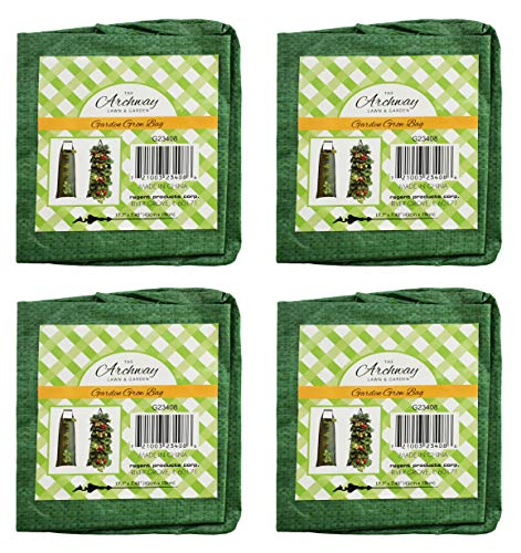 (Set of 4 Vertical Garden Grow Bags! Allows Roots to Breathe, Prevents Roots from Circling (4 Bags))